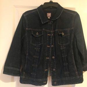 Blue jean jacket.
